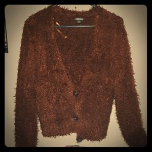 Brown fuzzy sweater